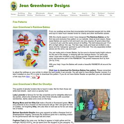 Jean Greenhowe Designs Official Website - Jean Greenhowe free knitting patterns, knitted dolls, toys