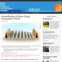 Qatar greening using atmospheric water
