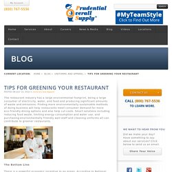 Tips for Greening Your Restaurant