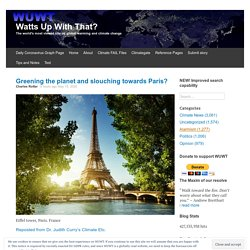 Greening the planet and slouching towards Paris?