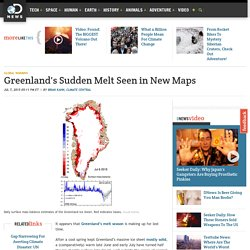 Greenland's Sudden Melt Seen in New Maps