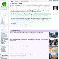 Greenlivingpedia - Greenlivingpedia, a wiki on green living, building and energy