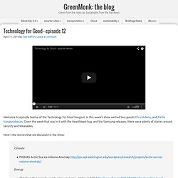GreenMonk: the blog — Green from the roots up, Sustainable from