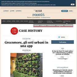 Greenmore, gli orti urbani in una app