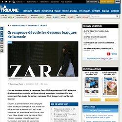 Produits toxiques.Greenpeace met la pression sur Zara pour faire évoluer le secteur textile