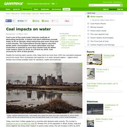 Coal impacts on water