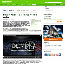 Nike & Adidas: Detox the world's water