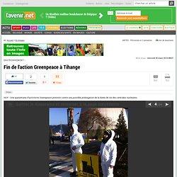 Fin de l'action Greenpeace à Tihange (1)
