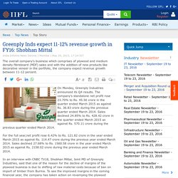 Greenply Inds expect 11-12% revenue growth in FY16: Shobhan Mittal