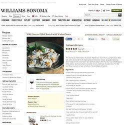 Wild Greens-Filled Ravioli with Walnut Sauce