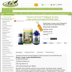 EZ - Mega 2 - Mega EPA / DHA - Super Greens Powder