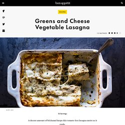 Greens and Cheese Vegetable Lasagna Recipe