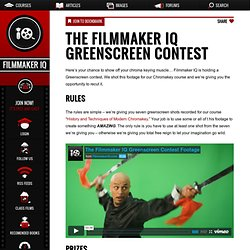 The Filmmaker IQ Greenscreen Contest