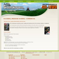 The Greenskeepers Inc. - Commercial and Residential Landscaping Services