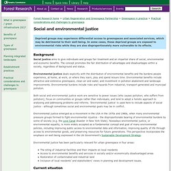 Social and economic benefits of greenspace - Social and environmental justice