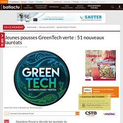 Jeunes pousses GreenTech verte: 51 nouveaux lauréats - 07/12/16