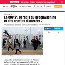 La COP 21, paradis du greenwashing et des conflits d'intérêts ?