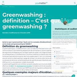 Greenwashing : définition - C'est quoi le greenwashing ?