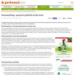 Greenwashing : quand la publicité se fait verte