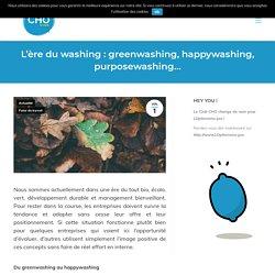 L'ère du washing: greenwashing, happywashing, purposewashing...