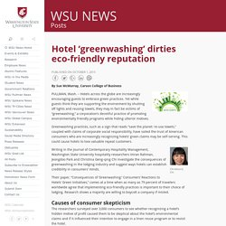 Hotel 'greenwashing' dirties eco-friendly reputation - WSU News WSU News