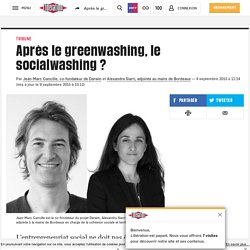Après le greenwashing, le socialwashing ?