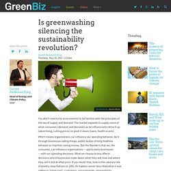 Is greenwashing silencing the sustainability revolution?