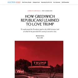 How Greenwich Republicans Learned to Love Trump