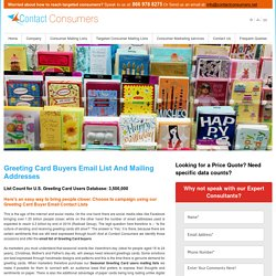 Greeting Card Buyers Email List