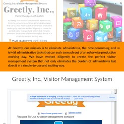 Greetly, Inc., Visitor Management System