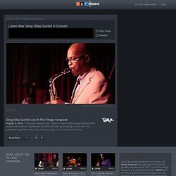 Greg Osby Quintet: Live At The Village Vanguard