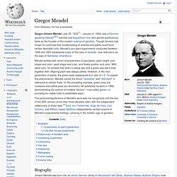 gregor johann mendel research paper
