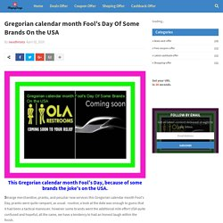Gregorian calendar month Fool's Day Of Some Brands On the USA