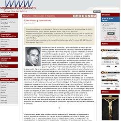 Gregorio Marañón: Liberalismo y comunismo