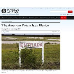 The American Dream is an Illusion