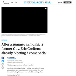 Is Eric Greitens planning another run for Missouri governor?