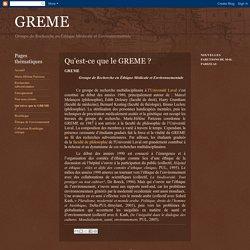 GREME - Groupe de Recherche en Éthique Médicale et Environnementale