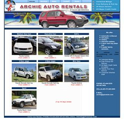Grenada Car Rental - Archie Auto Rentals: Our Vehicles