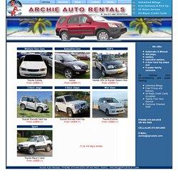 Grenada Car Rental - Archie Auto Rentals: Our Vehicles