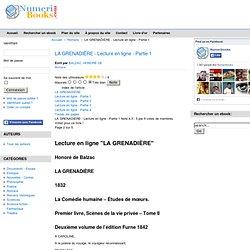 LA GRENADIÈRE - Lire cet ebook gratuit en ligne - Partie 1