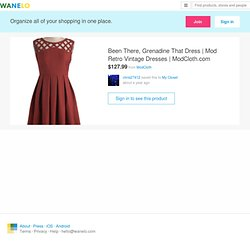 Been There, Grenadine That Dress | Mod Retro Vintage Dresses | ModCloth.com on Wanelo