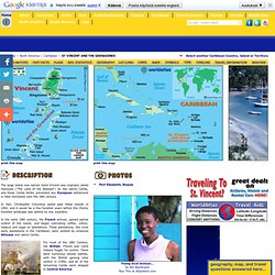 Map of St Vincent and the Grenadines - Caribbean Island Maps, St Vincent and the Grenadines Map Information