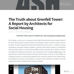 Grenfell : A Report by Architects for Social Housing
