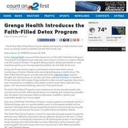 Grenga Health Introduces the Faith-Filled Detox Program