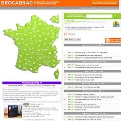 75 Paris - Vide greniers et brocantes - BROCABRAC 2009