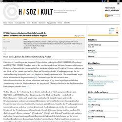 HT 2010: Grenzverschiebungen. Historische Semantik der 1960er- und 1970er-Jahre im deutsch-britischen Vergleich