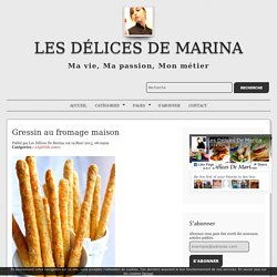 Gressin au fromage maison