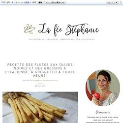 Recette des flûtes aux olives noires et des gressins à l'italienne, à grignoter à toute heure!
