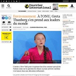 À l'ONU, Greta Thunberg s'en prend aux leaders du monde