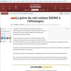 La grève du rail coûtera 500M€ à l'Allemagne